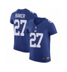 Men's New York Giants #27 Deandre Baker Royal Blue Team Color Vapor Untouchable Elite Player Football Jersey