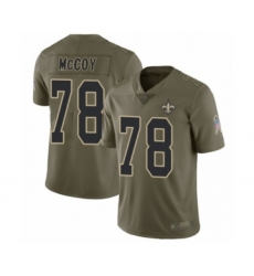 Men's New Orleans Saints #78 Erik McCoy Limited Olive 2017 Salute to Service Football Jersey