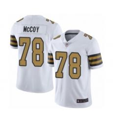 Men's New Orleans Saints #78 Erik McCoy Limited White Rush Vapor Untouchable Football Jersey