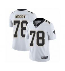Men's New Orleans Saints #78 Erik McCoy White Vapor Untouchable Limited Player Football Jersey