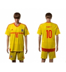 Wales #10 Ramsey Away Soccer Country Jersey