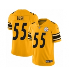 Men's Pittsburgh Steelers #55 Devin Bush Limited Gold Inverted Legend Football Jersey