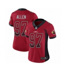 Women's Arizona Cardinals #97 Zach Allen Limited Red Rush Drift Fashion Football Jersey
