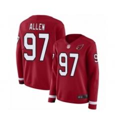 Women's Arizona Cardinals #97 Zach Allen Limited Red Therma Long Sleeve Football Jersey