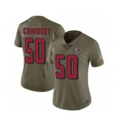 Women's Atlanta Falcons #50 John Cominsky Limited Olive 2017 Salute to Service Football Jersey