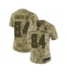 Women's Minnesota Vikings #84 Irv Smith Jr. Limited Camo 2018 Salute to Service Football Jersey