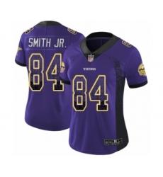 Women's Minnesota Vikings #84 Irv Smith Jr. Limited Purple Rush Drift Fashion Football Jersey