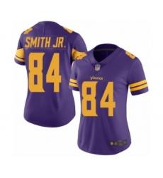 Women's Minnesota Vikings #84 Irv Smith Jr. Limited Purple Rush Vapor Untouchable Football Jersey