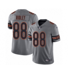 Men's Chicago Bears #88 Riley Ridley Limited Silver Inverted Legend Football Jersey