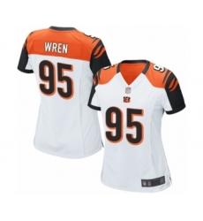 Women's Cincinnati Bengals #95 Renell Wren Game White Football Jersey