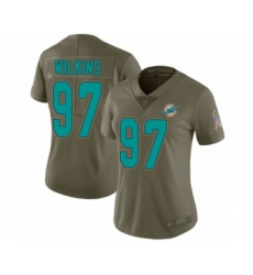 Women's Miami Dolphins #97 Christian Wilkins Limited Olive 2017 Salute to Service Football Jersey