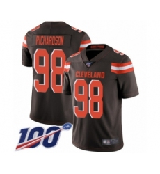Men's Cleveland Browns #98 Sheldon Richardson Brown Team Color Vapor Untouchable Limited Player 100th Season Football Jersey