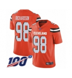 Men's Cleveland Browns #98 Sheldon Richardson Orange Alternate Vapor Untouchable Limited Player 100th Season Football Jersey