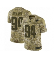 Men's Detroit Lions #94 Austin Bryant Limited Camo 2018 Salute to Service Football Jersey
