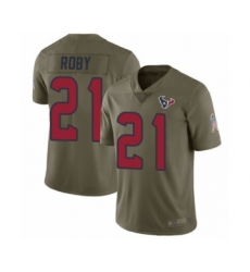 Men's Houston Texans #21 Bradley Roby Limited Olive 2017 Salute to Service Football Jersey