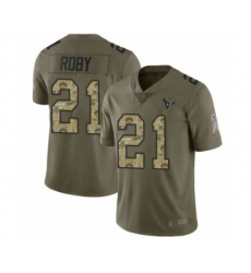 Men's Houston Texans #21 Bradley Roby Limited Olive Camo 2017 Salute to Service Football Jersey