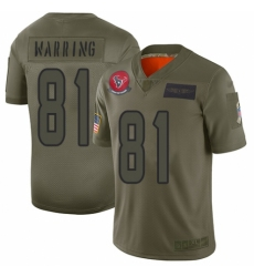 Men's Houston Texans #81 Kahale Warring Limited Camo 2019 Salute to Service Football Jersey