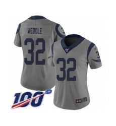 Women's Los Angeles Rams #32 Eric Weddle Limited Gray Inverted Legend 100th Season Football Jersey