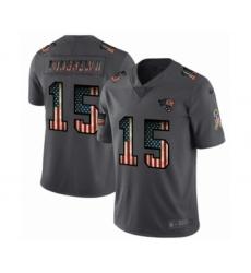 Men's Jacksonville Jaguars #15 Gardner Minshew II Limited Black USA Flag 2019 Salute To Service Football Jersey