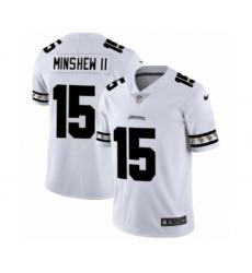 Men's Jacksonville Jaguars #15 Gardner Minshew II White Team Logo Cool Edition Jersey