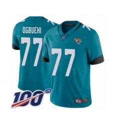Men's Jacksonville Jaguars #77 Cedric Ogbuehi Teal Green Alternate Vapor Untouchable Limited Player 100th Season Football Jersey