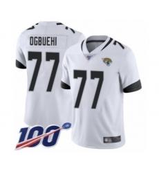 Men's Jacksonville Jaguars #77 Cedric Ogbuehi White Vapor Untouchable Limited Player 100th Season Football Jersey