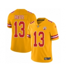 Youth Kansas City Chiefs #13 Sammie Coates Limited Gold Inverted Legend Football Jersey