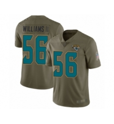 Men's Jacksonville Jaguars #56 Quincy Williams II Limited Olive 2017 Salute to Service Football Jersey