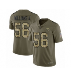 Men's Jacksonville Jaguars #56 Quincy Williams II Limited Olive Camo 2017 Salute to Service Football Jersey