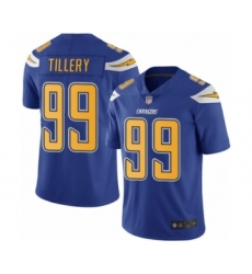 Men's Los Angeles Chargers #99 Jerry Tillery Limited Electric Blue Rush Vapor Untouchable Football Jersey