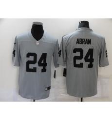 Men's Oakland Raiders #24 Johnathan Abram Nike Silver Inverted Legend Jersey