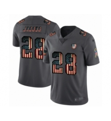 Men's Oakland Raiders #28 Josh Jacobs Limited Black USA Flag 2019 Salute To Service Football Jersey