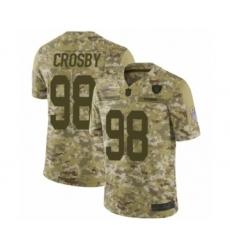 Men's Oakland Raiders #98 Maxx Crosby Limited Camo 2018 Salute to Service Football Jersey