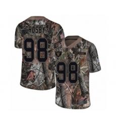Men's Oakland Raiders #98 Maxx Crosby Limited Camo Rush Realtree Football Jersey