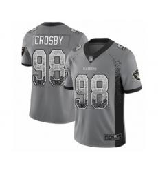 Men's Oakland Raiders #98 Maxx Crosby Limited Gray Rush Drift Fashion Football Jersey