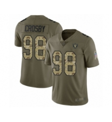 Men's Oakland Raiders #98 Maxx Crosby Limited Olive Camo 2017 Salute to Service Football Jersey