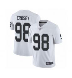 Men's Oakland Raiders #98 Maxx Crosby White Vapor Untouchable Limited Player Football Jersey