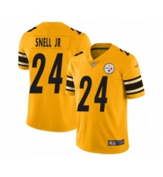 Men's Pittsburgh Steelers #24 Benny Snell Jr. Limited Gold Inverted Legend Football Jersey