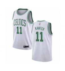 Men's Boston Celtics #11 Enes Kanter Authentic White Basketball Jersey - Association Edition