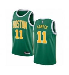 Men's Boston Celtics #11 Enes Kanter Green Swingman Jersey - Earned Edition