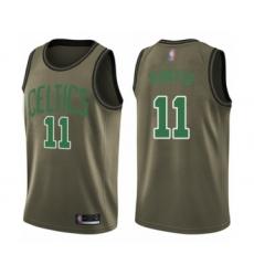 Men's Boston Celtics #11 Enes Kanter Swingman Green Salute to Service Basketball Jersey