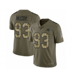 Men's Carolina Panthers #93 Gerald McCoy Limited Olive Camo 2017 Salute to Service Football Jersey