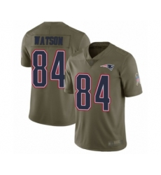 Men's New England Patriots #84 Benjamin Watson Limited Olive 2017 Salute to Service Football Jersey