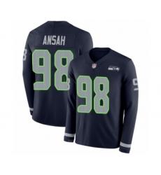Men's Seattle Seahawks #98 Ezekiel Ansah Limited Navy Blue Therma Long Sleeve Football Jersey