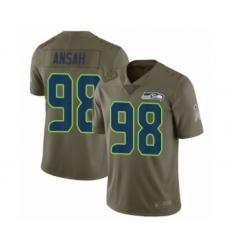 Men's Seattle Seahawks #98 Ezekiel Ansah Limited Olive 2017 Salute to Service Football Jersey