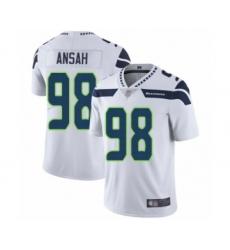 Men's Seattle Seahawks #98 Ezekiel Ansah White Vapor Untouchable Limited Player Football Jersey