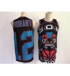 Men's Memphis Grizzlies #12 Ja Morant Big Face-2.0- Black Jersey