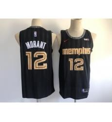 Men's Memphis Grizzlies #12 Ja Morant Nike Black City Player Jersey