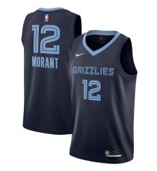 Men's Memphis Grizzlies #12 Ja Morant Nike Navy 2020-21 Swingman Jersey
