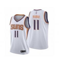 Men's Phoenix Suns #11 Ricky Rubio Authentic White Basketball Jersey - Association Edition
